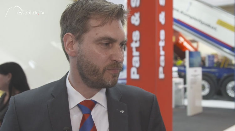 Frank Reinartz, Head of Product Management Schmitz Cargobull - bauma 2016 München