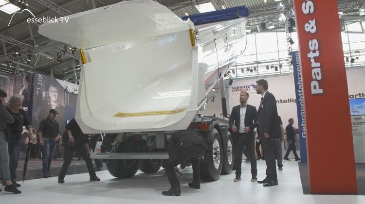 Schmitz Cargobull segmentierter Stahlrundmulden Trailer - bauma 2016 München