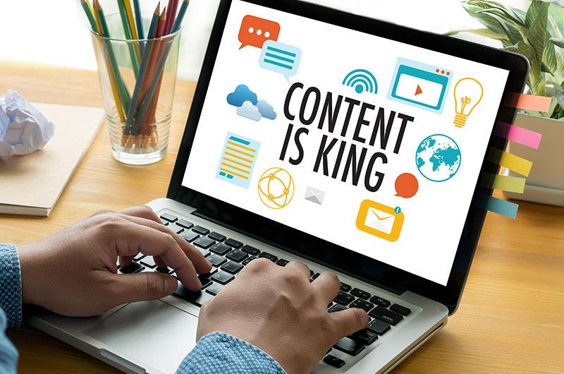 Hochwertiger Webseiten Content