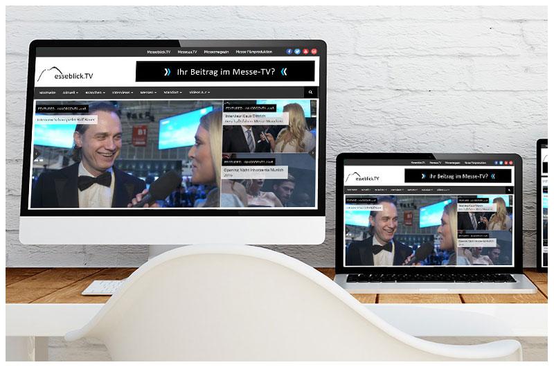 Messe auf der Webseite
