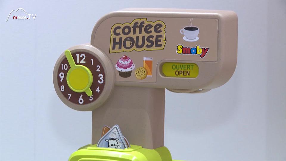 Smoby Kaffeehaus Cafehaus Kinderzimmer Espressomaschine Spielwarenmesse