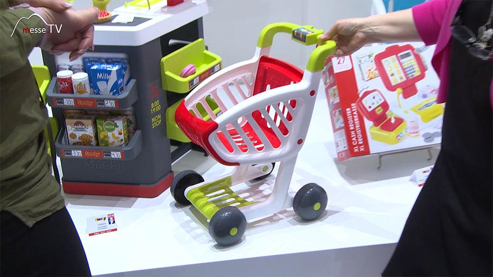 Smoby Kaffeehaus Einkaufswagen Spielwarenmesse