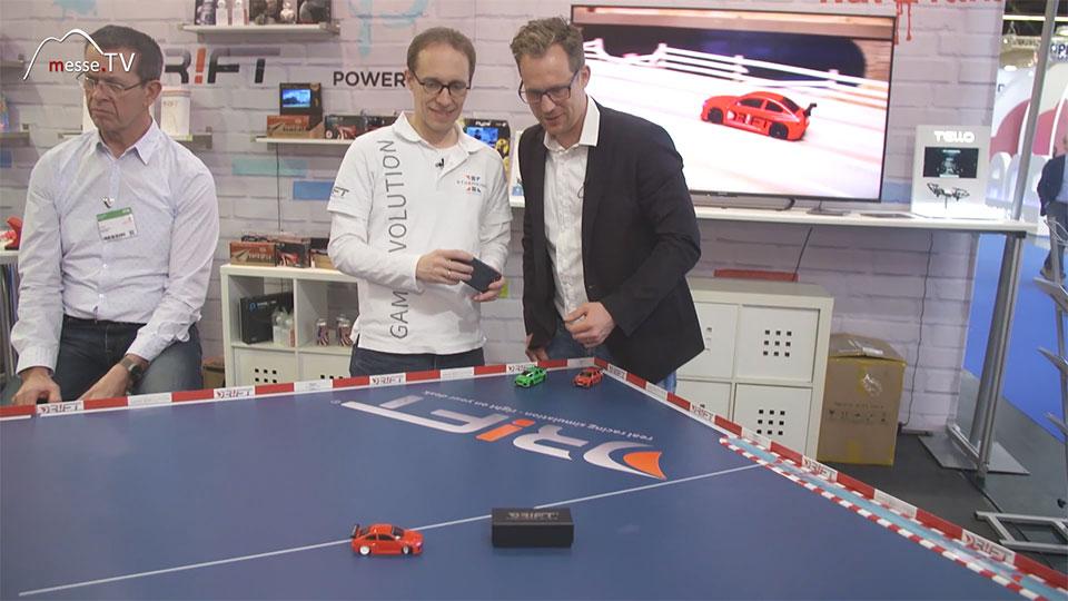 Sturmkind Martin Mueller Fahrsimulation - Spielwarenmesse