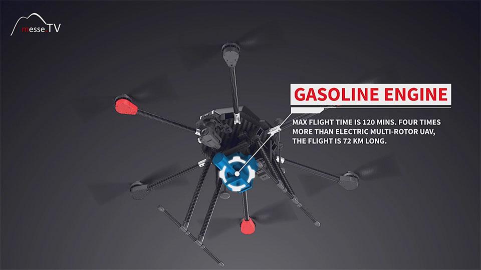 Walkera Multicopter Hybrid Generator Sprit Benzin - Spielwarenmesse