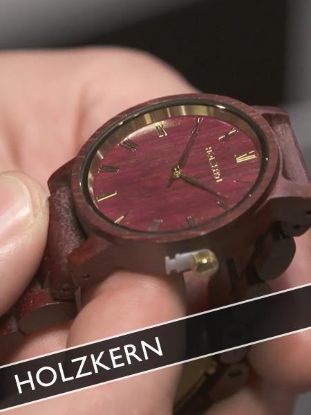 Holzkern Uhren aus Holz