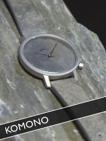 Komono Uhren aus Schieferstein