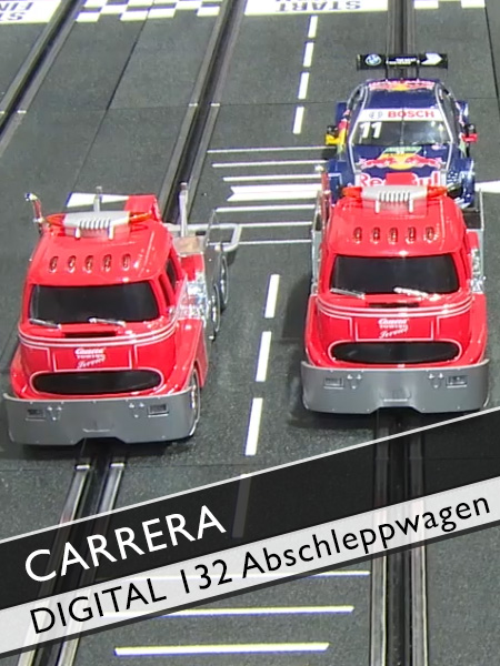 Carrera Digital 132 mit Abschleppwagen