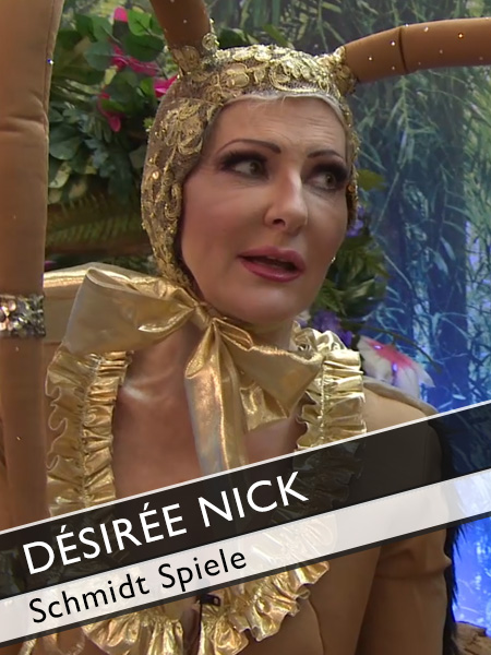 Desiree Nick Interview im Kakerlakenkostüm