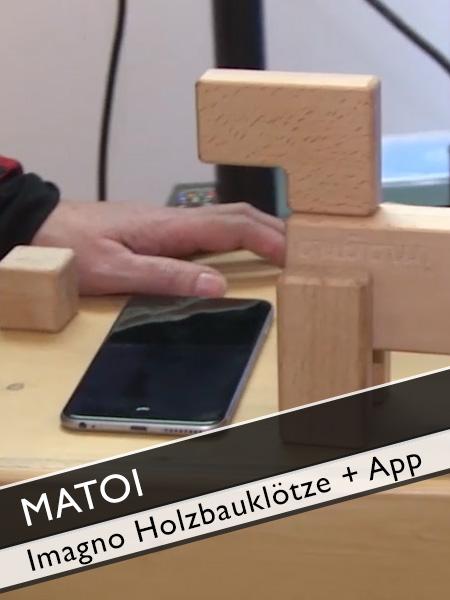 Matoi imagno magnetische Holzbauklötze mit App