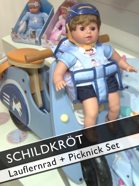 Schildkröt Lauflernrad und Picknick-Set