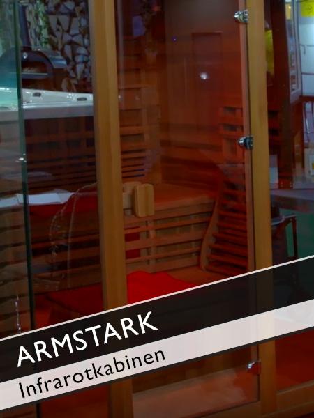 Armstark Infrarotkabine für Entspannung und Tiefenwärme