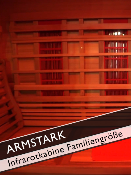 Armstark Infrarotkabine in Familiengröße