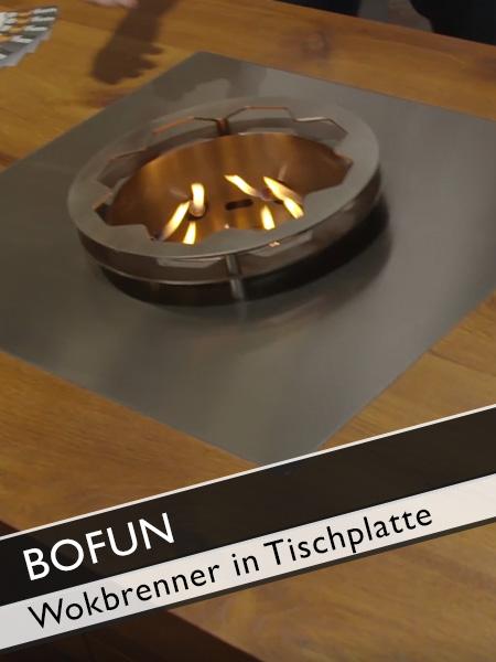 Bofun Einbaubeispiel Wokbrenner Tischplatte