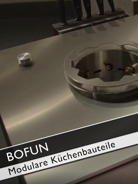 Bofun modulare Küchenbauteile mit Wokkochstelle