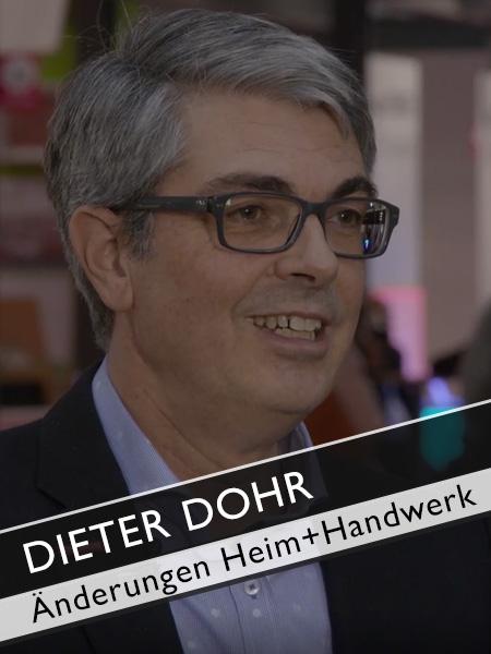 GHM Dieter Dohr Änderungen auf der Heim+Handwerk spürbar