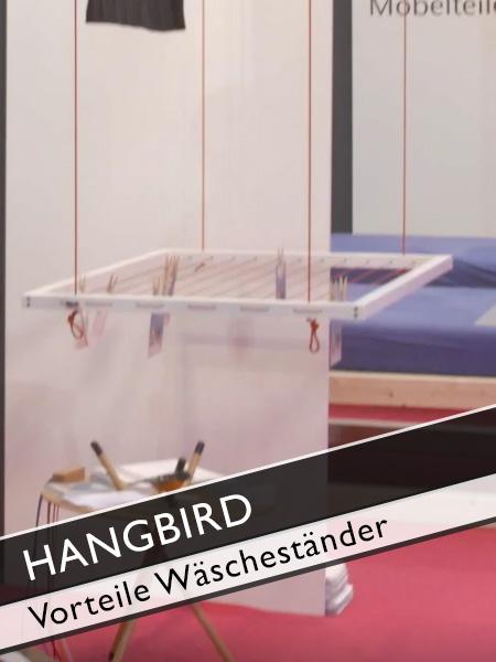 Hangbird Vorteil Wäscheständer unter der Decke