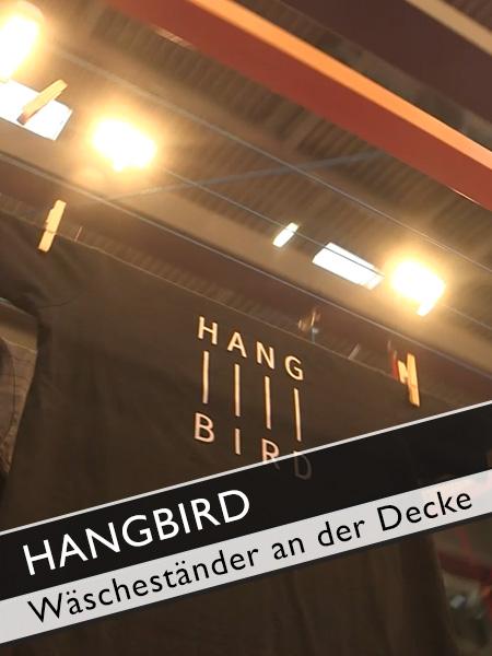 Hangbird Wäscheständer an der Decke
