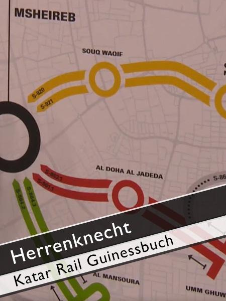 Herrenknecht - Katar Rail U-Bahn Doha Guinessbuchrekord