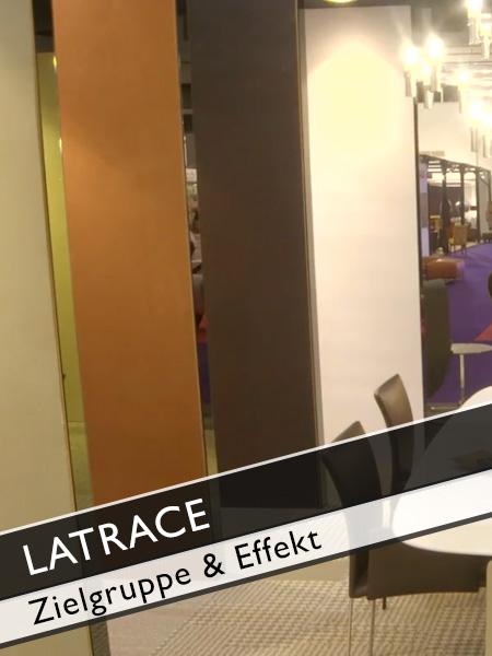 Latrace Zielgruppe und Effekt einer Duftwand