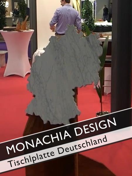 Monachia Design Kosten Marmortischplatte in Form von Deutschland