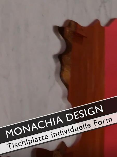 Monachia Design Tischplatte mit individueller Form