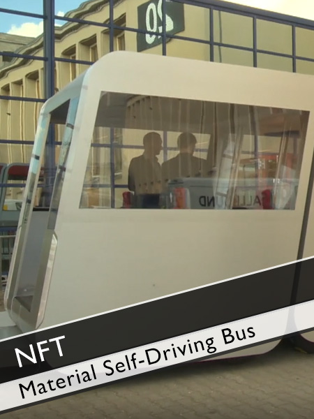 Next Future Transportation Self-Driving Modular Electric Bus Material