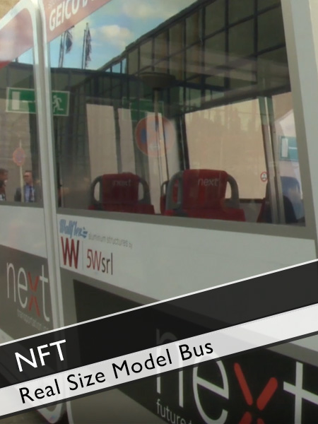 Next Future Transportation -Self-Driving Modular Electric Bus Real-Size Model
