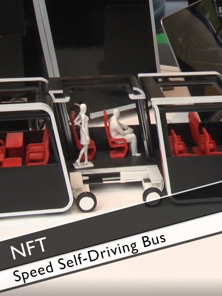 Next Future Transportation - Speed Self-Driving Modular Electric Bus