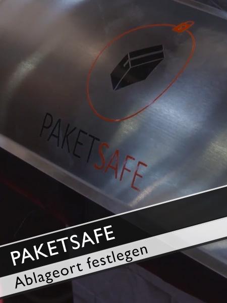 Paketsafe Ablageort mit Zustellerlaubnis für Paketdienste