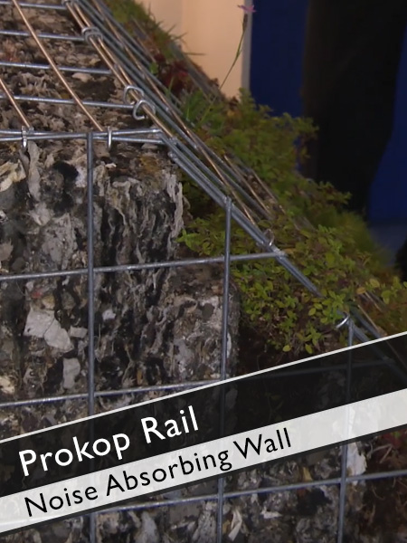 Prokop Rail - Noise absorbing Wall made with Recycling Material