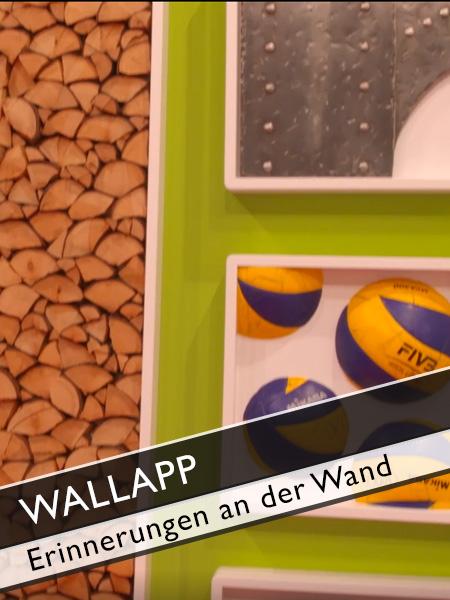 Wallapp Leidenschaft und Erinnerungen an die Wand bringen