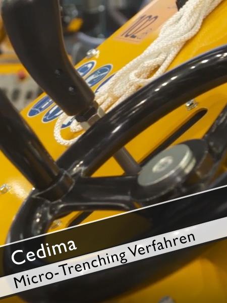 Cedima - CF 5030 MT Micro Trenching Verfahren