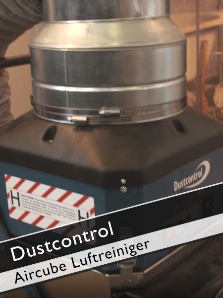 Dustcontrol - Aircube Luftreiniger für staubfreie Baustelle
