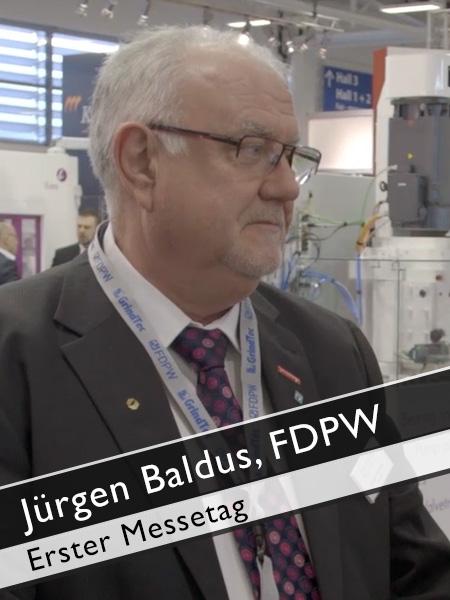 Jürgen Baldus, FDPW Erster Messetag GrindTEC