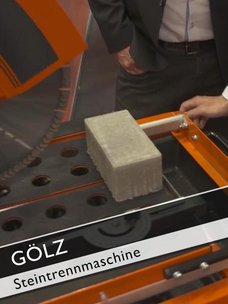 GÖLZ - Kompakte Steintrennmaschine mit viel Schnittlänge