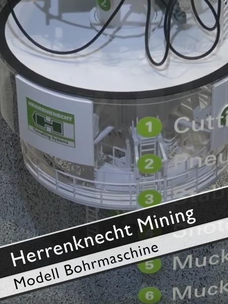 Herrenknecht Mining - Modell Bohrmaschine Blindschacht Untertagebau