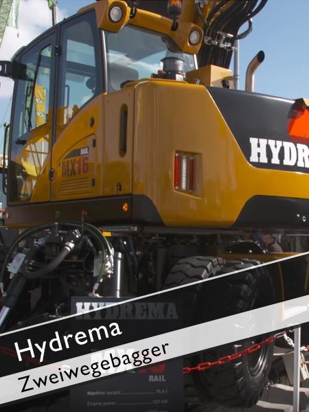 Hydream - Zweiwegebagger MX16 mit kurzem Heck und geringem Schwenkradius