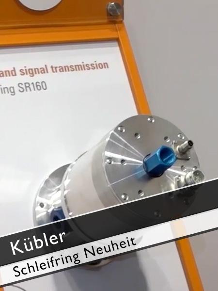 Kübler - Neuer Schleifring Kran für Kommunikation vom Oberwagen zum Unterwagen