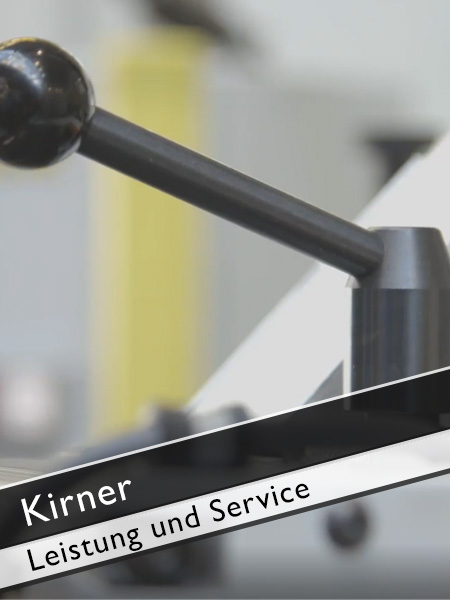 Kirner Vorteile der Schleifmaschinen