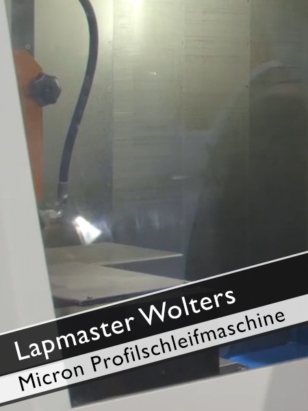 Lapmaster Wolters Micron Profilschleifmaschine