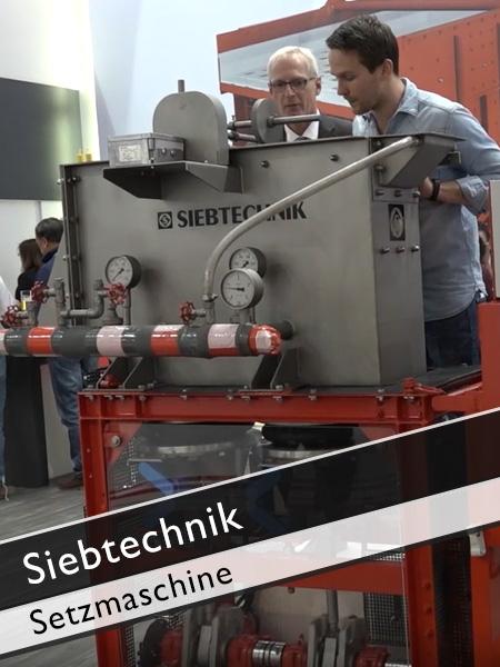 Siebtechnik - Setzmaschine