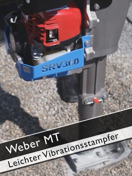 Weber MT - Leichter Vibrationsstampfer für den Rohrleitungsbau