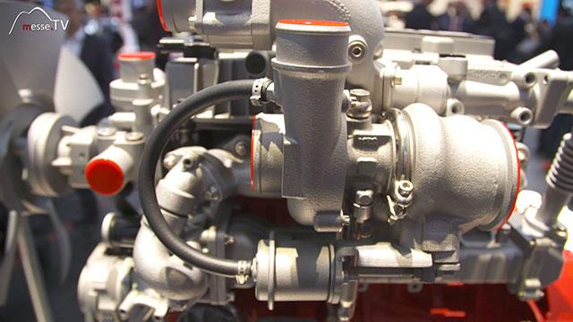 DEUTZ Motor Detailansicht bauma München