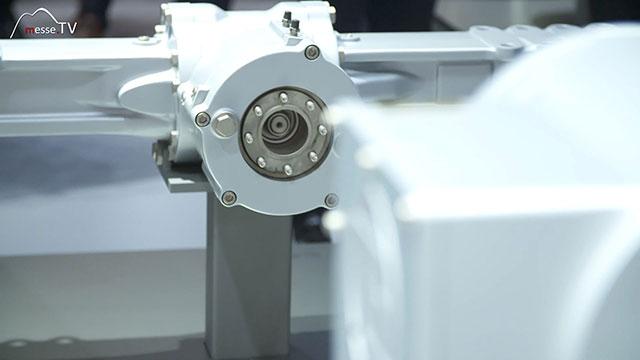 ZF Friedrichshafen Antriebsstrang Kompaktlader elektrifiziert Detailansicht