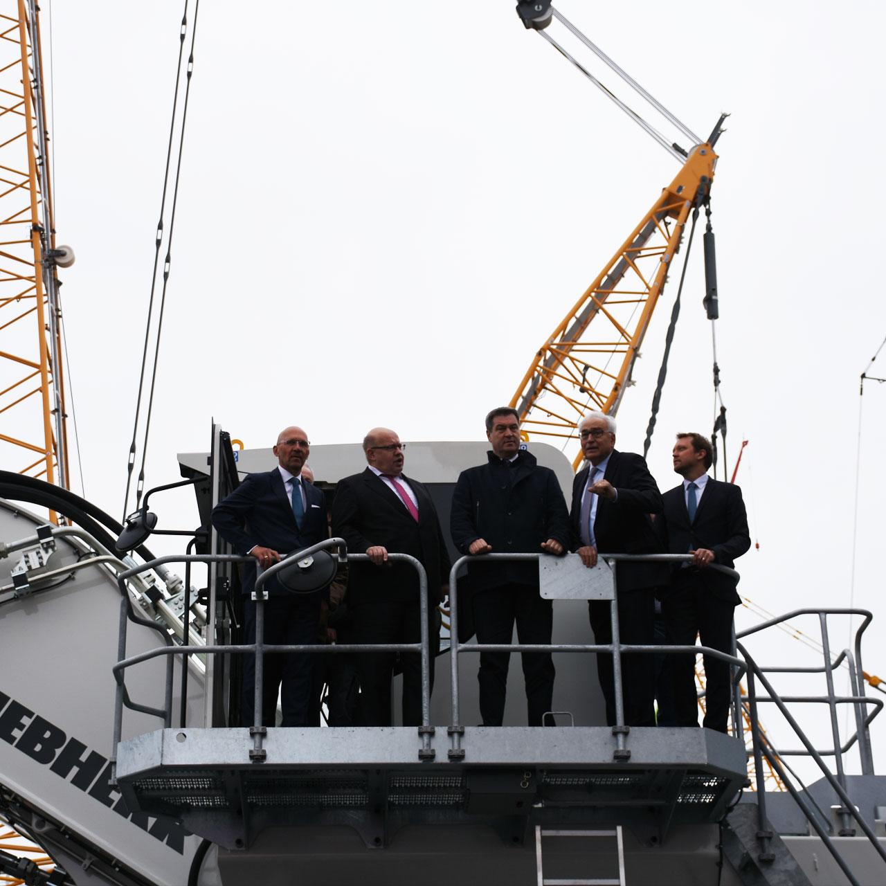 bauma 2019 Eröffnung: Klaus Dittrich, Peter Altmaier, Markus Söder, Willi Liebherr, Stefan Rummel