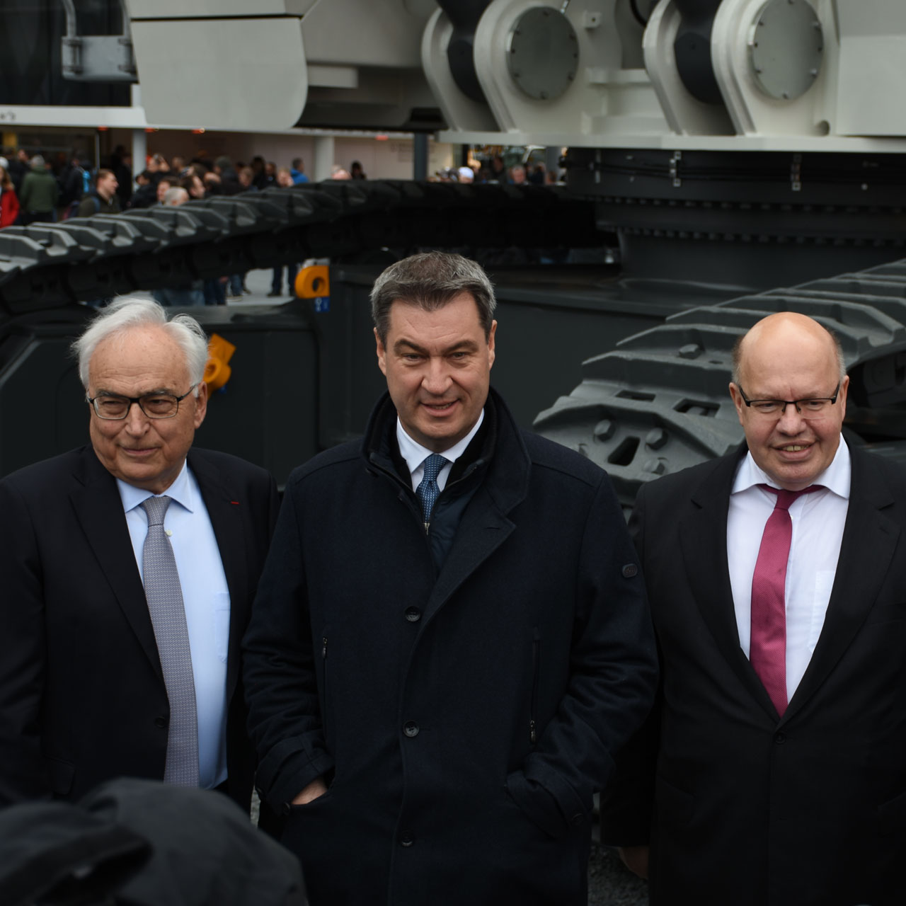 bauma 2019 Eröffnung: Willi Liebherr, Markus Söder, Peter Altmaier
