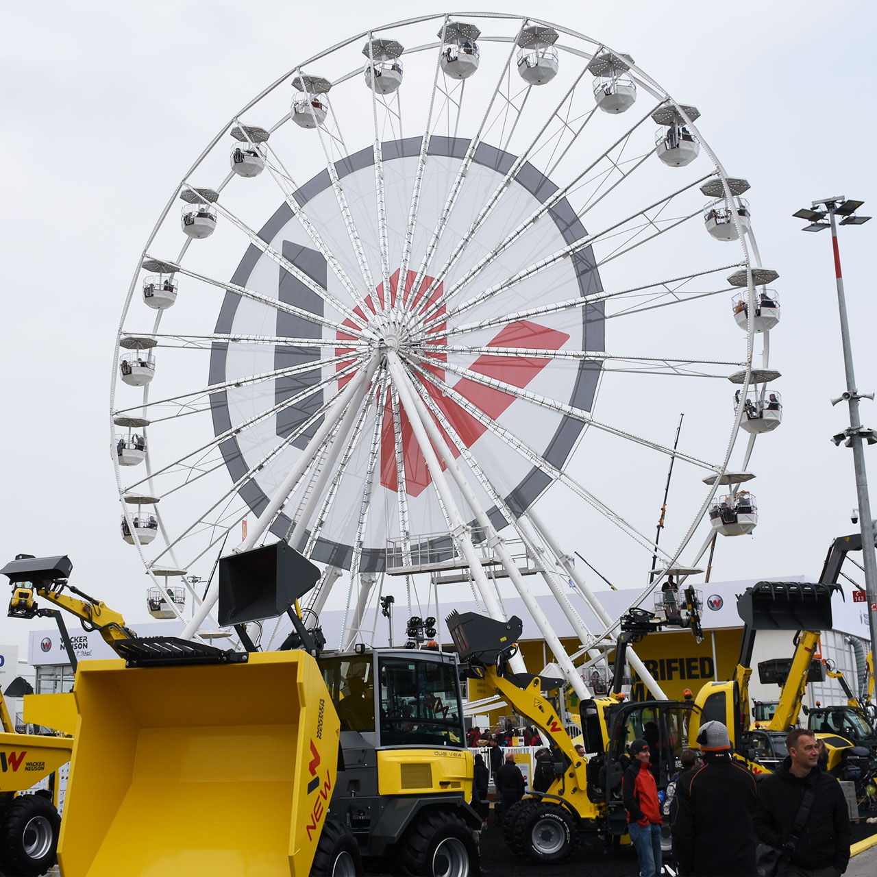 Wacker-Neuson: Riesenrad auf der bauma 2019