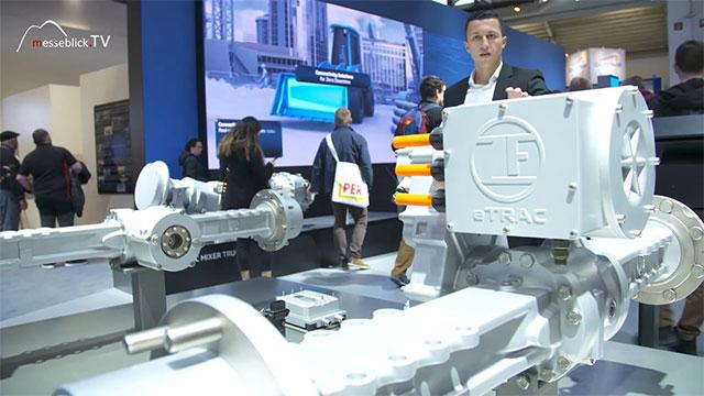 ZF Friedrichshafen: Elektrifizierter Antriebsstrang Kompaktlader, bauma 2019