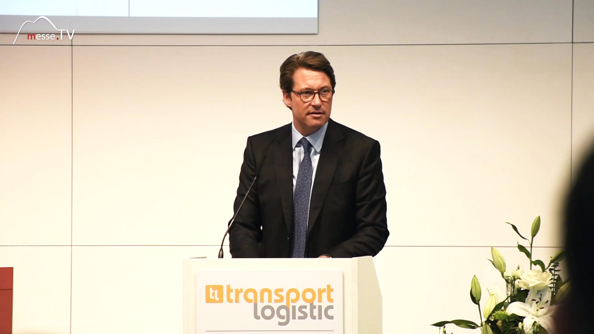 Verkehrsminister Andreas Scheuer - transport logistic 2019