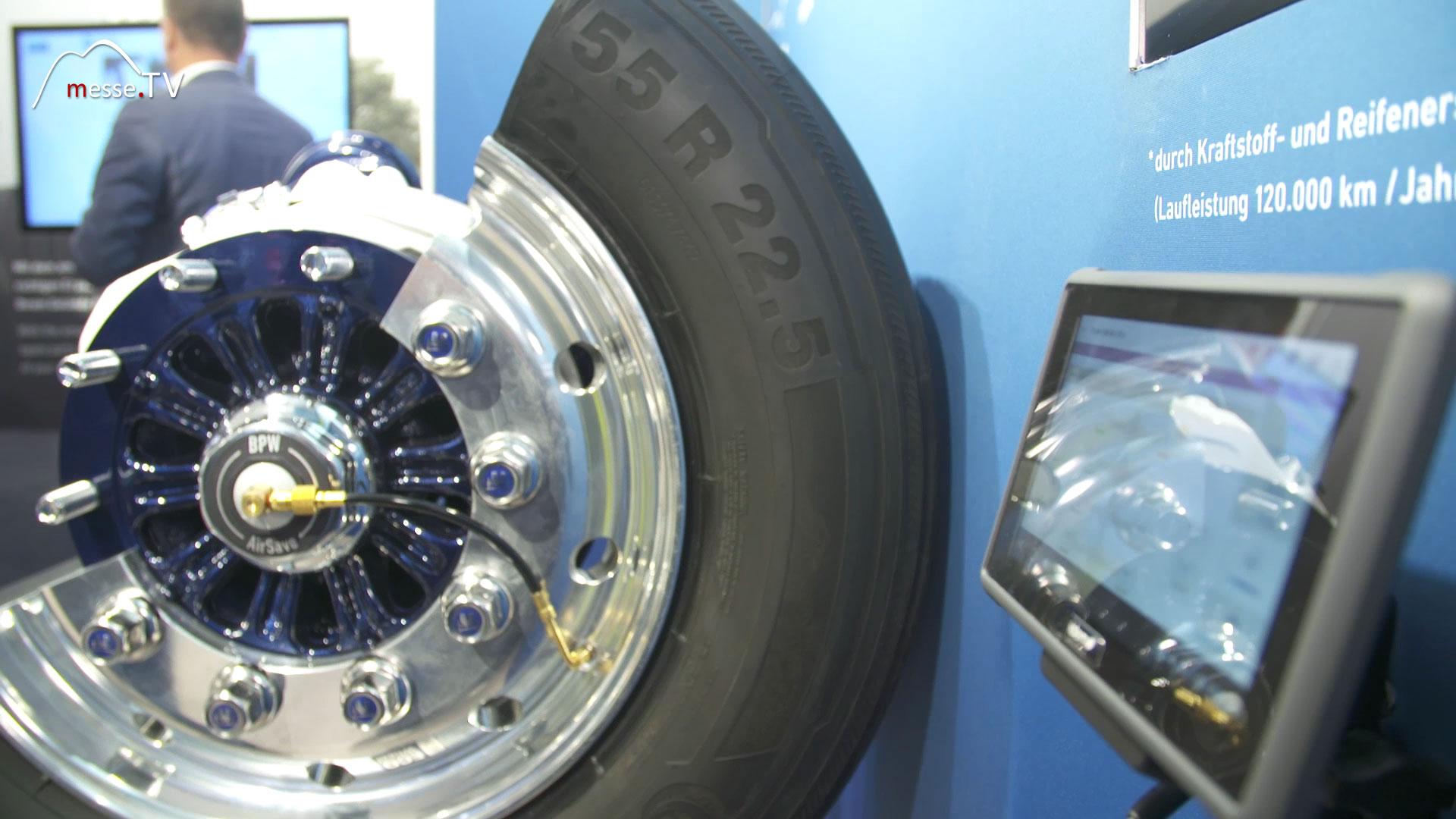 BPW AirSafe mit richtigem LKW Reifendruck Kosten sparen